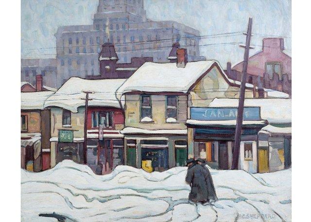 "Peter Clapham Sheppard, ""Elizabeth Street, Toronto,"" circa 1930"