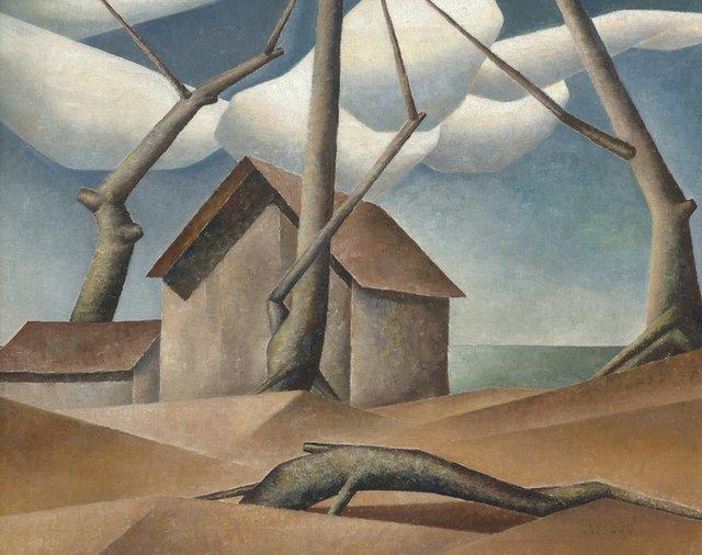 """Bertram Brooker, """"Delta Ice House,"""" 1942"""