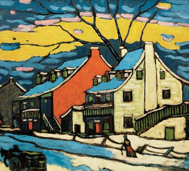 """Marc-Aurèle Fortin, """"Ste. Rose paysage,"""" 1939"""