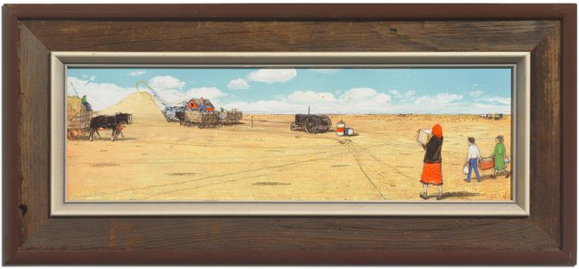 "William Kurelek, ""Threshing Outfit Being Brought Lunch,"" 1972"