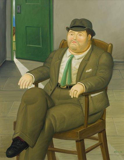 "Fernando Botero, ""Seated Man,"" 2004"