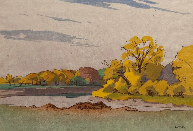 "Walter J. Phillips, ""Fall Assiniboine River,"" 1931"
