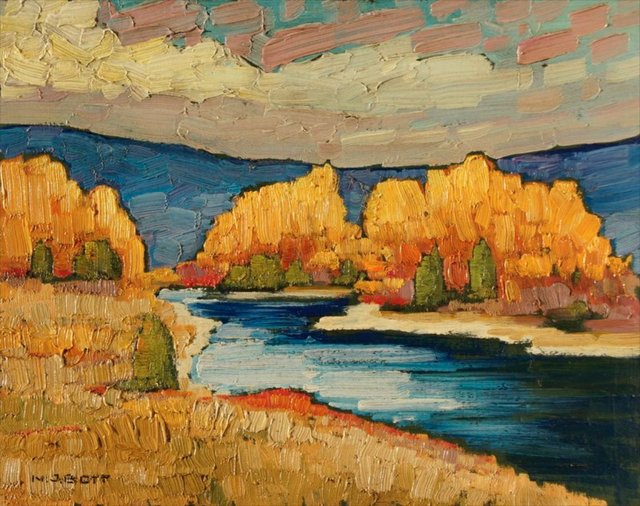 "Nicholas Bott, ""Blue River,"" no date"