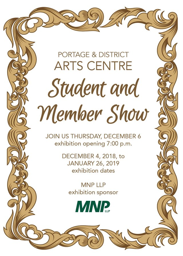Portage & District Arts Centre Student and Member Show, 2018