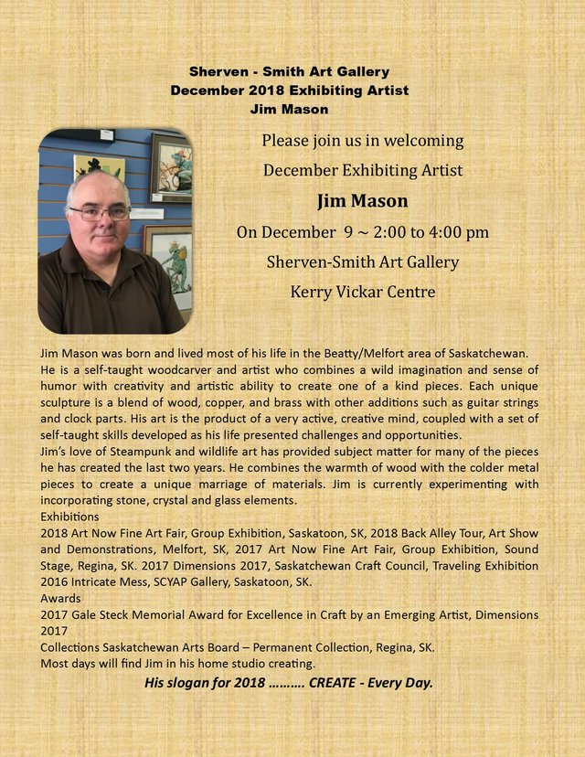 Jim Mason: December Exhibiting Artist