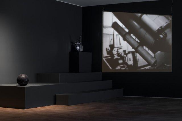 "Installation view, Rosa Barba, ""Send Me Sky,"" Remai Modern, Saskatoon, 2018"
