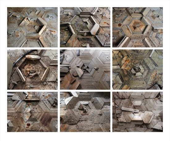 "David McMillan, ""Parquet Floor Variations, Prypiat, Ukraine,"" 2018"