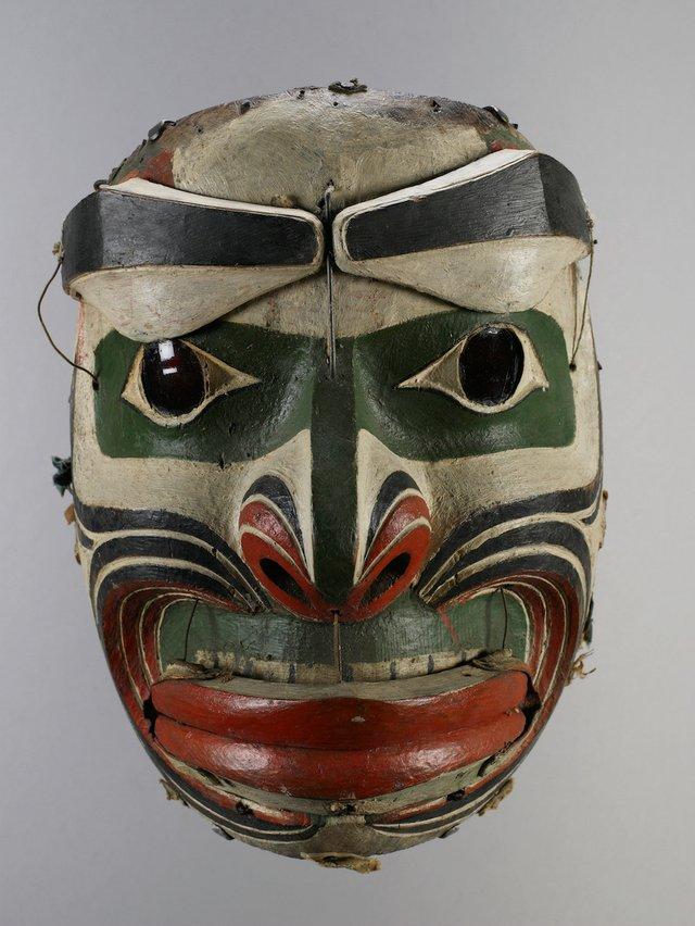 """John Davis ('Nakwaxda'xw), """"Earthquake mask,"""" before 1939"""