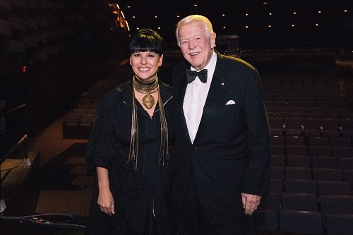 Nathalie Bondil, Executive Director and Chief Curator, MMFA, and Dr. James D. Fleck, C.C., Chairman of Business / Arts. (photo courtesy of Business / Arts)