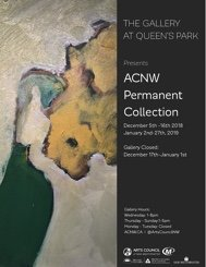 """The Gallery at Queen's Park, """"ACNW Permanent Collection,"""" 2018"""