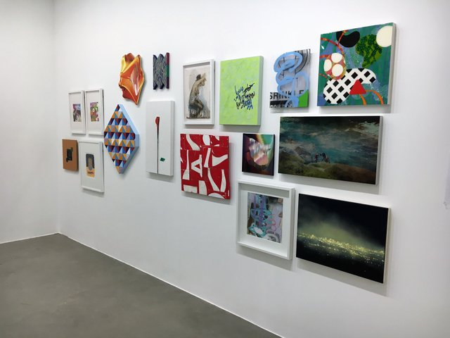"""Herringer Kiss Gallery, """"Annual Holiday Salon Wall,"""" 2018"""