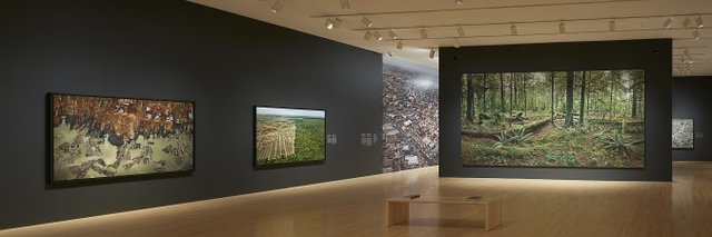 "Edward Burtynsky, Jennifer Baichwal and Nicholas de Pencier, ""Anthropocene,"" exhibition view at the National Gallery of Canada, from Sept. 28, 2018 to Feb. 24, 2019 (photo courtesy NGC, Ottawa)"