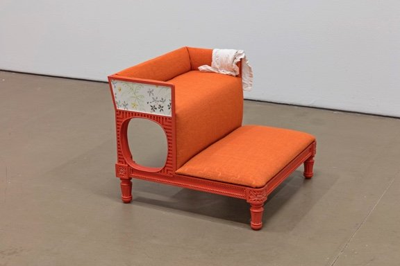 """Anne Low, """"Bedchamber for a paper stainer (bedsteps),"""" 2018"""