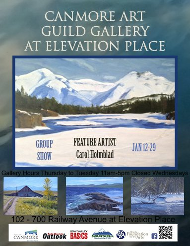 Canmore Art Guild Gallery Group Show Featuring Carol Holmblad, 2019