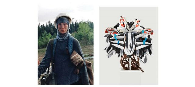 "Left: Sarah Anne Johnson, ""Nadine (from Tree Planting),"" 2003"