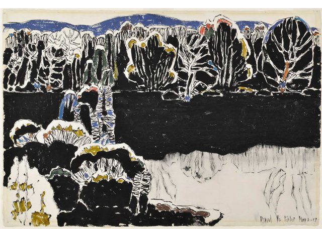 """David Milne, """"Reflected Forms,"""" 1917,watercolour on paper (Art Gallery of Greater Victoria, Women's Committee Cultural Fund; photo by Stephen Topfer, AGGV)"""