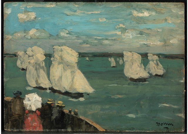 "James Wilson Morrice, ""The Regatta,"" circa 1902-1907, oil on panel, 9"" x 13"" (gift of A.K. Prakash, J.W. Morrice Collection, 2015, National Gallery of Canada; photo by NGC/MBAC)"