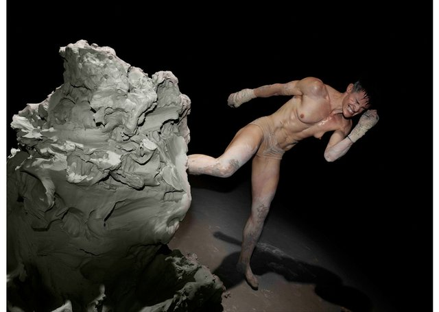 """Cassils' work""""Becoming An Image"""