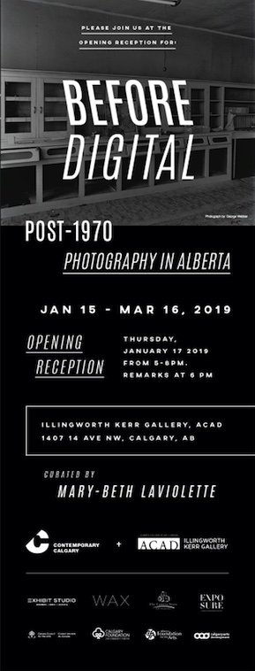 Before Digital: Post 1970 Photography in Alberta