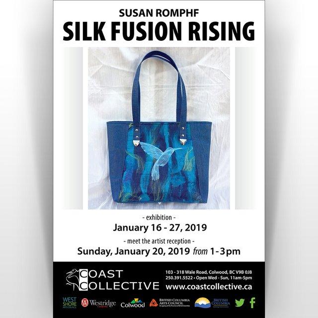 "Susan Romphf, ""Silk Fusion Rising,"" 2019"
