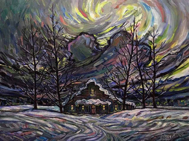 """Steve Coffey, """"Warm Winter Shack,"""" nd"""