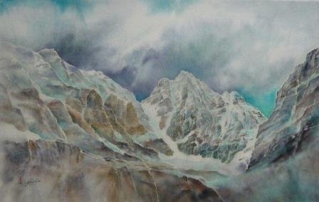 """Yuriko Kitamura, """"Mt. Ringrose (Lake O'Hara),"""" 2010"""
