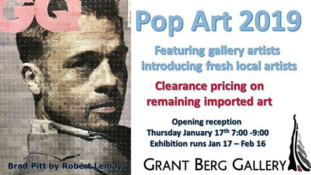 "Grant Berg Gallery, ""Pop Art 2019,"""