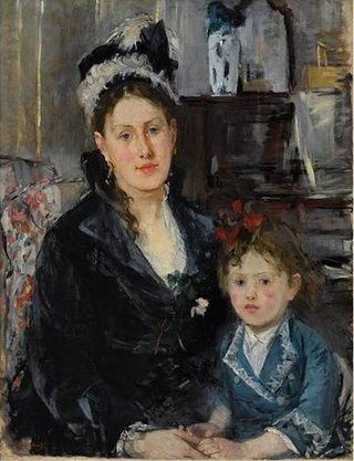 "Berthe Morisot, ""Madame Boursier and Her Daughter,"" c. 1873"