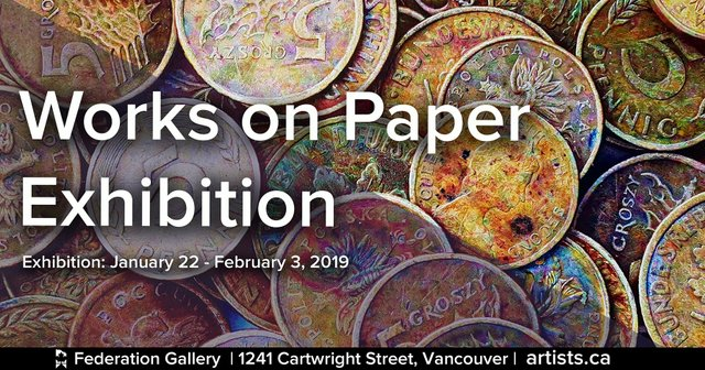 "Federation of Canadian Artists, ""Works on Paper Exhibition,"" 2019"