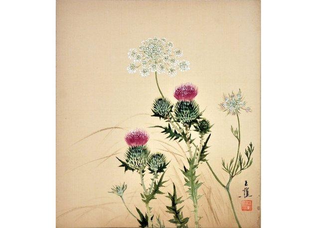 "Elizabeth Yeend Duer (Gyokoshō), ""Common Thistle, Carum,"" 1941"