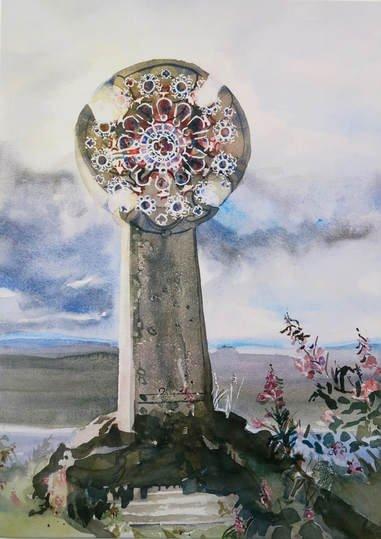 "Catherine Fraser, ""Celtic Cross Rose Window,"" nd"