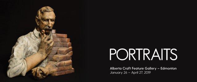 "Alberta Craft Gallery Edmonton, ""Portraits,"" 2019"