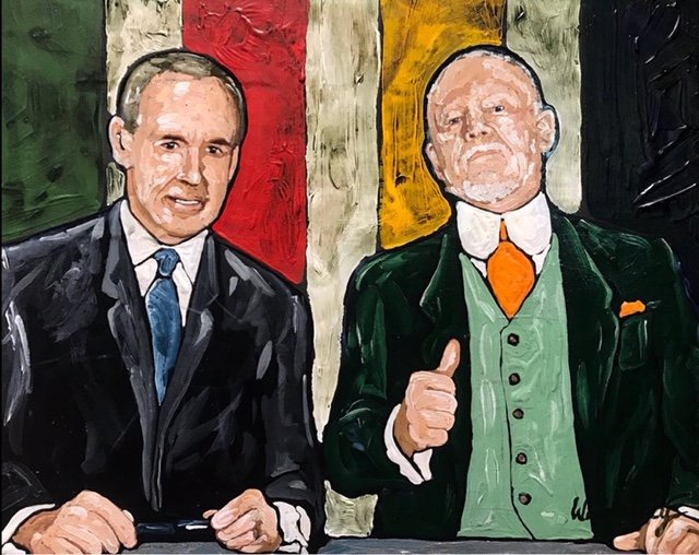 """Tim Hoey, """"Ron and Don,"""" 2018"""