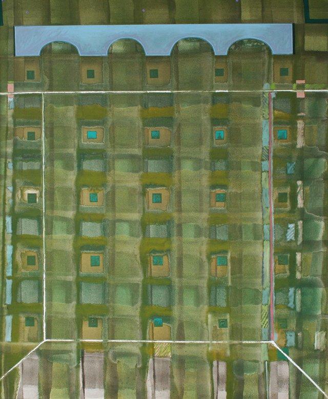 "Ted Godwin, OC, LLD, RCA, ""Blue Molyvos,"" ca. 1970s"