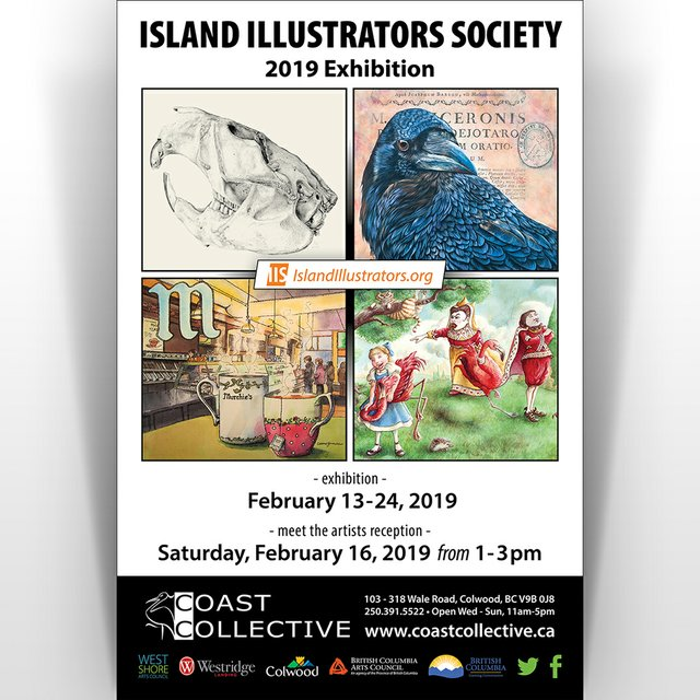 "Island Illustrators Society, ""2019 Exhibition,"" 2019"