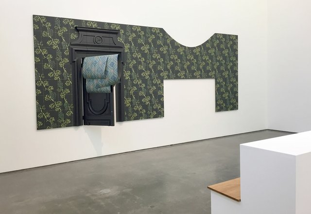 """Anne Low, """"Bedchamber of a paper stainer (wall),"""" 2018, installation view from """"Chair for a woman"""" at the Contemporary Art Gallery, Vancouver"""