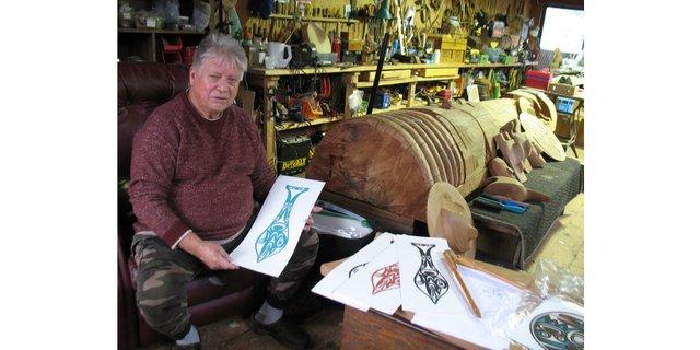 TEMOSEN (Charles Elliott) in his studio (photo by Portia Priegert)