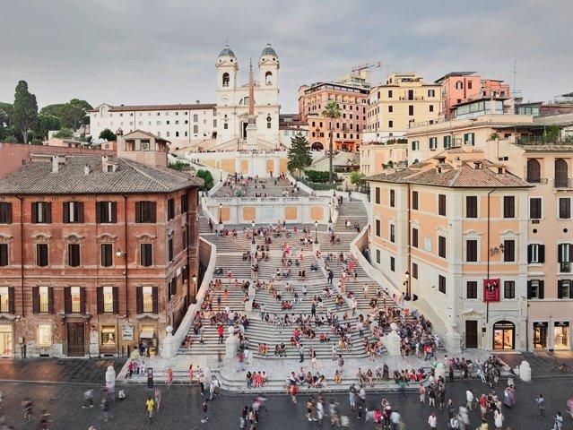 "David Burdeny, ""Spanish Steps, Rome, IT,"" 2018"