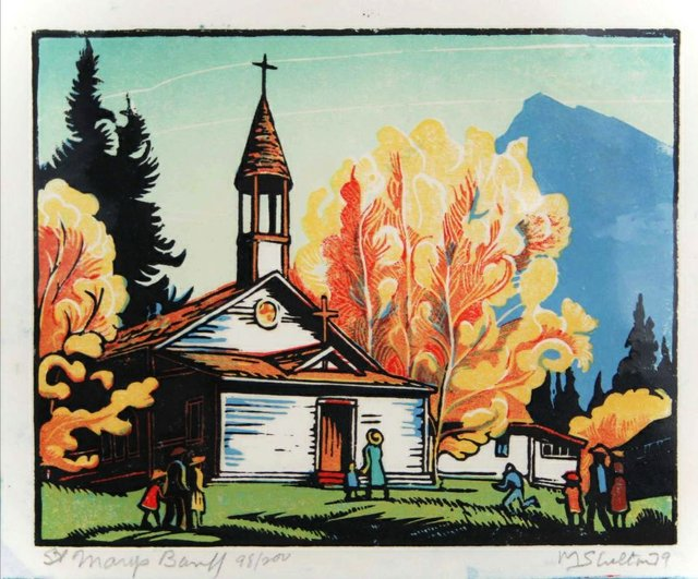 "Margaret Shelton,  ASA  CPE  (1915 - 1984) , ""St. Mary's, Banff,"" nd"