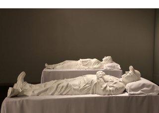 "Heather Benning, ""Sarcophagi: Rosalie and Larry,"" 2015"