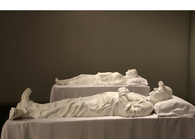 "Heather Benning, ""Sarcophagi: Rosalie and Larry,"" 2015"
