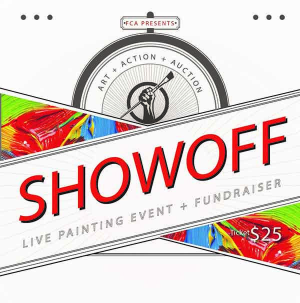 """Tarin Mead, """"ShowOff Live Painting Event and Fundraiser,"""" 2019"""