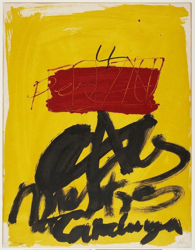 """Antoni Tàpies, """"Mestres Catalunya,"""" 1974"""