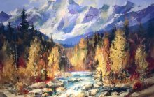 "Brent Heighton, ""A Kananaskis day,"" nd"