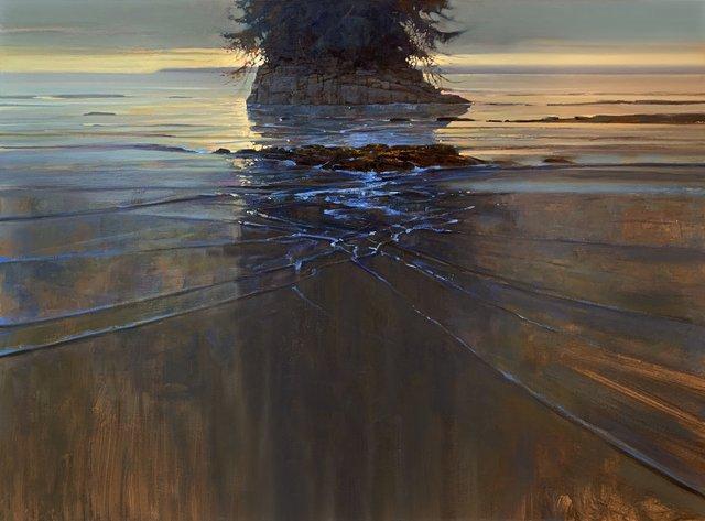 "Brent Lynch, ""Illuminated Stack,"" 2019"