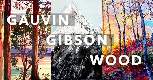 """Hambleton Galleries, """"Gauvin/Gibson/Wood: Spring Art Show,"""" 2019"""
