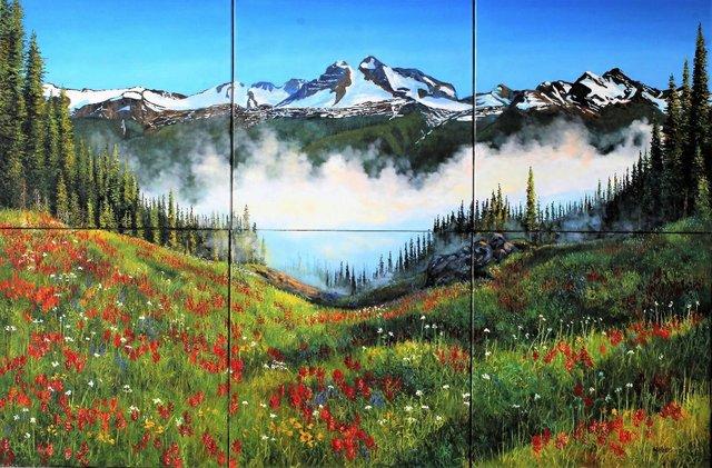 "Andrew Kiss, ""Alpine Flowers,"" 2019"