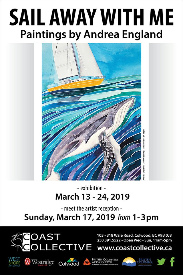 "Andrea England, ""Joy of Sailing,"" 2019"