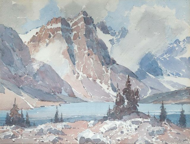 "A. C. Leighton, ""Moraine Lake, Alta,"" nd"