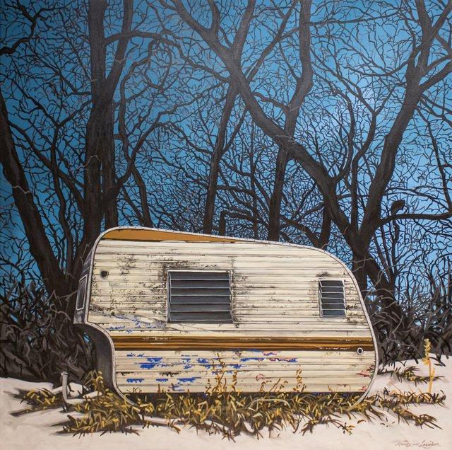"Mandy van Leeuwen, ""The First Camper,"" nd"